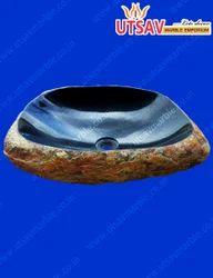 Black Lava Stone Wash Basin