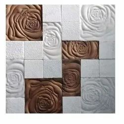Floral Stone Mosaic Tile, For Bathroom Tiles, Thickness: 10-18 mm