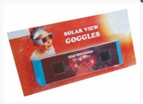 UV Safe Solar Eclipse Goggles - Glasses, Size: Free