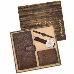 Premium Gift Set Of Pen, Card Holder, Watch, Wallet, Card Holder, Watch, Clutch, Travel Wallet