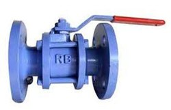 MS Three Piece Flanged End Ball Valve
