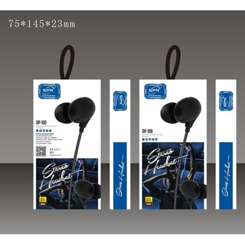 SP100 Mobile Stereo Earphone, Packaging Type: Box