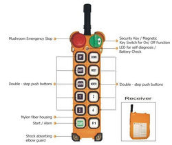 Double Push Button Radio Remote Control