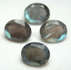 Natural Labradorite Faceted Oval Gemstone Lot