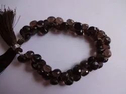 Smoky Quartz Onion Shape Faceted Briolette Beads Strands