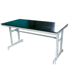 Canteen Mild Steel Rectangular Dinning Table, Thickness: 2 mm
