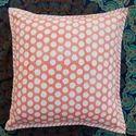 Hand Block Printed Canvas Cushion Cover Pillow