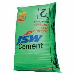 JSW Portland Slag Cement, Cement Grade: Grade 43, Packaging Size: 50 Kg