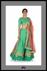 New Bollywood Style Pure Silk Lehenga Choli