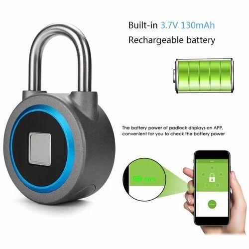 9c63fb614b26 Fingerprint Keyless Anti Theft Smart Lock Wireless Waterproof App Bluetooth  Padlock