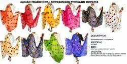 Gujarati Traditional Dupatta - Fancy - Phulkari
