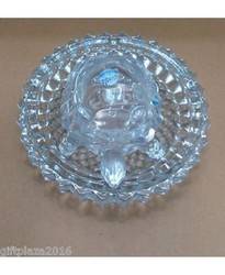 Feng Shui Glass Crystaltortoise in Plate