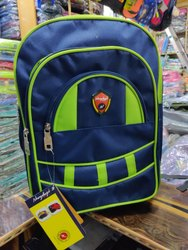 Green and Blue School Bag
