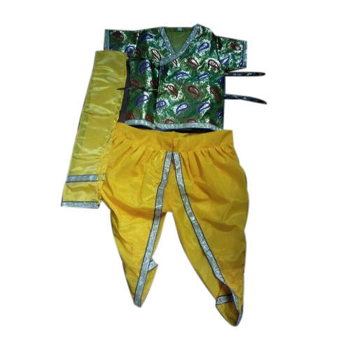 Boys Green and Yellow Krishna/Kanha Costume