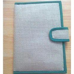 Jute Cheque Book Folder