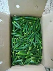 Export Quality Dark Green Fresh Lady Finger, Packaging Size: 5 Kg