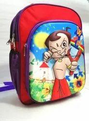 Red Unisex SCHOOL BAG, Size/Dimension: 16