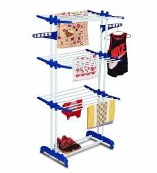 Parasnath Gold Six Layer Clothes Rack Hanger with Wheels for Gold Drying Clothes
