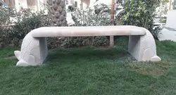 Garden Sand Stone Bench