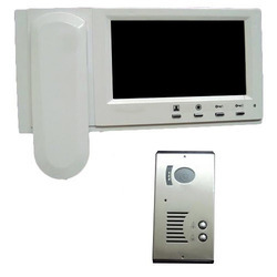 White Black Metal, Plastic Video Door Phone, 12v