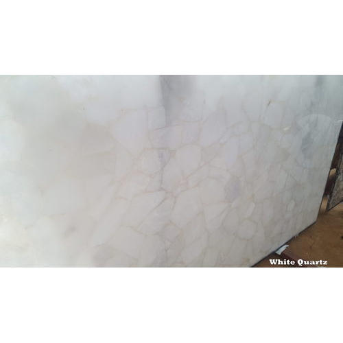Polished White Quartz Semi Precious Stone, Thickness: 15-20 mm