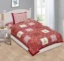 Floral Print Single Bed Sheet Cotton