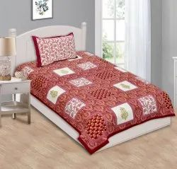 Floral Print Single Bed Sheet Cotton