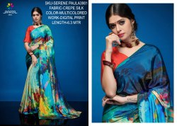 Rachna Crepe Silk Digital Printed Serene Paula Catalog Saree For Women