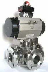 Stainless Steel Ball Valve With Rotary Actuator 3 Way Actuator Valves
