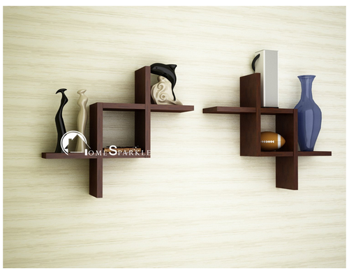 Brown Mango Wood Home Sparkle Wooden Zig Zag Wall Shelf, Rs 1139.00 /piece  | ID: 16390344291