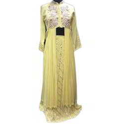 Chiffon Embroidered Ladies Partywear Dress