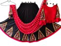 Rayon Cotton Ethnic Gujarati Embroidered Black Chaniya Choli - Ras Garba Costume