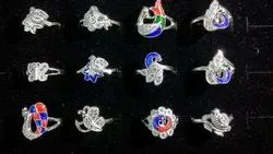 Silver Peacock Ring