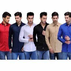Plain Men's Formal Shirt