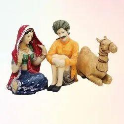 Antique Rajasthani Pair Statue