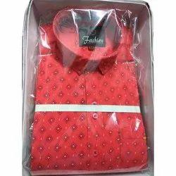 Mens Printed Cotton Shirt, Size: M-xl