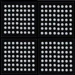 Pie Cut Diamonds Lab Grown 9 Pcs Round