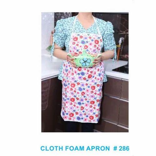 Cotton Printed Cloth Kitchen Apron, Size: Free Size