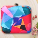colorful  Printed box Clutch