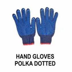 Full Finger Boys Polka Dotted Hand Gloves, Size: Free Size