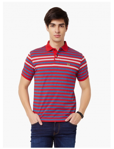 f69f006ad4 Striped Polo Neck T-Shirt at Rs 945 /piece | Kurla | Mumbai | ID ...