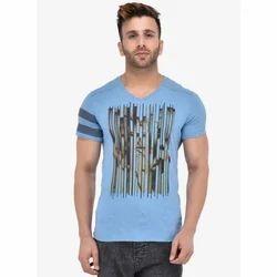 Lycra Cotton Boys Printed V Neck T-Shirts