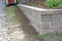 Cement Block Garden Wall