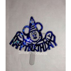 Micky Mouse Plastic Birthday Topper