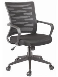Trends Abs Plastic, Metal Office Furniture Chair for Staff Working Height Adjustable, Warranty: 1 Year