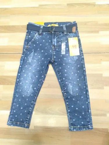 d748c1846101 Circular Print Girls Denim Jeans