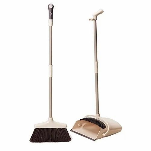 AWRAAQ Wishpool Broom and Dustpan Treelen with Dust Pan with Long Handle Combo Set (Multicolour)