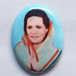 Sonia Gandhi Photo Stone