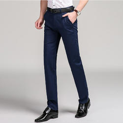 Mens Navy Blue Formal Trousers