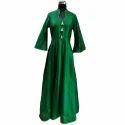 Ladies Green Long Gown